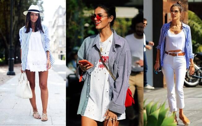 Os truques de estilo mais disputados do verão: camisa usada como terceira peça