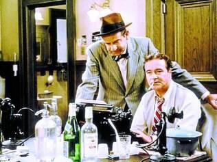 Walter Matthau e Jack Lemmon vivem editor e repórter no filme de Wilder