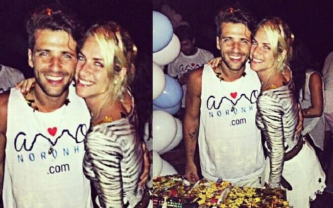 Bruno Gagliasso comemora aniversário com Giovanna Ewbank em Noronha