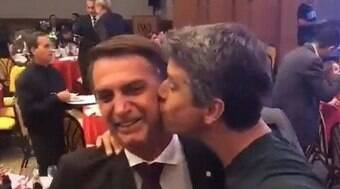 Márcio Garcia diz a Bial que se arrependeu de beijo em Bolsonaro