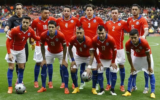 Seleção do Chile para amistoso. Foto: AP Photo/Kirsty Wigglesworth