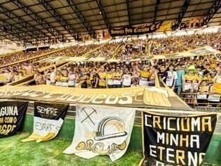 Estádio Heriberto Hulse tem capacidade para 19.300 torcedores e será uma arma do Criciúma contra o Cruzeiro