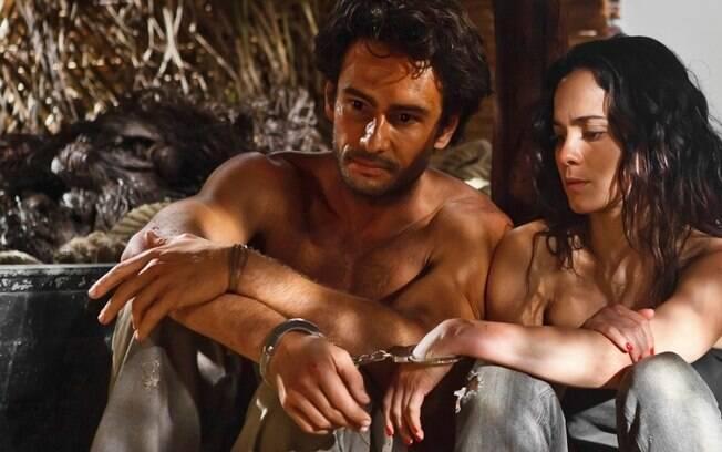 Alice Braga e Rodrigo Santoro em cena do episódio