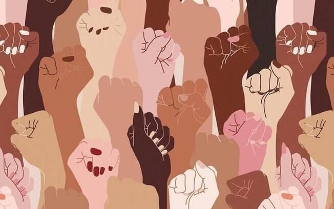 Foto usada por Bruna para homenagear as mulheres