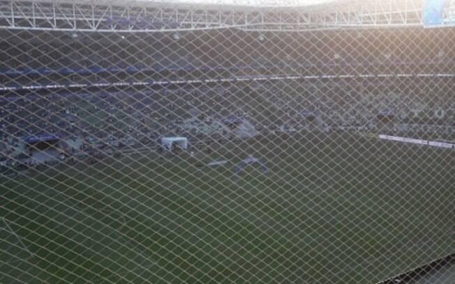 Rede de proteção do estádio do Palmeiras vem causando reclamações
