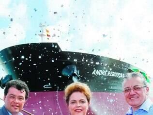 Inauguração.   A presidente Dilma participou do lançamento do navio petroleiro André Rebouças
