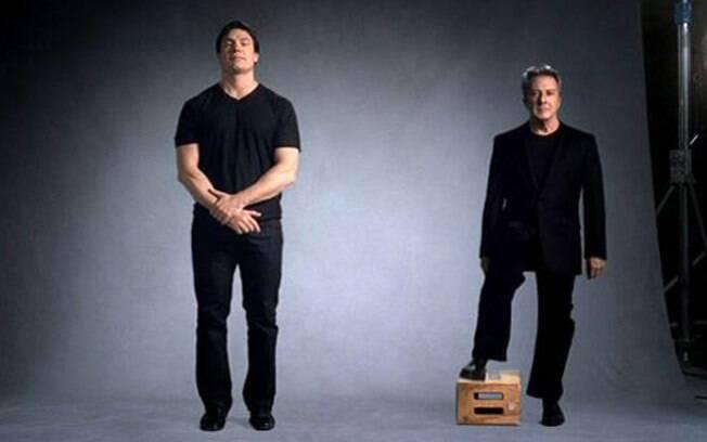 Ricardo Macchi e Dustin Hoffman: o ator grande e o grande ator