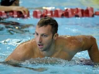 Nadador ficou satisfeito com o resultado: