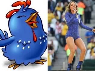 A cantora Cláudia Leitte foi comparada pela Galinha Pintadinha, personagem infantil