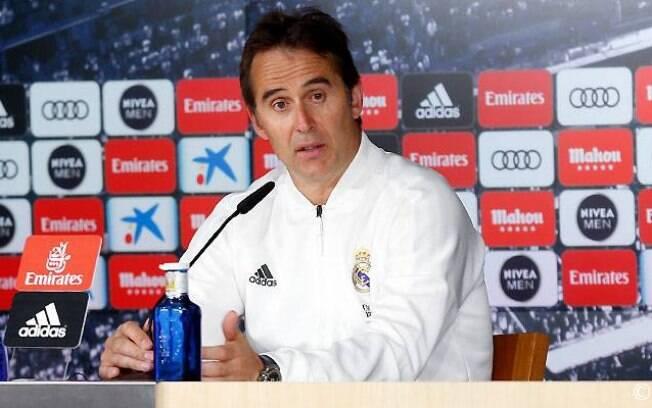 Julen Lopetegui, técnico do Real Madrid, durante coletiva de imprensa