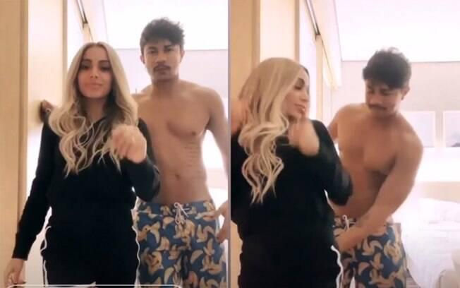Anitta ganha tapa na bunda de rapper Xamã