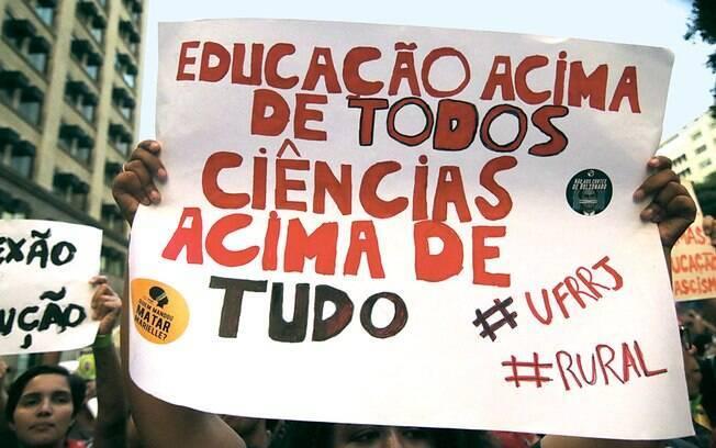 manifestações educação