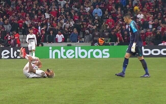Simulação de Gabigol, atacante do Flamengo