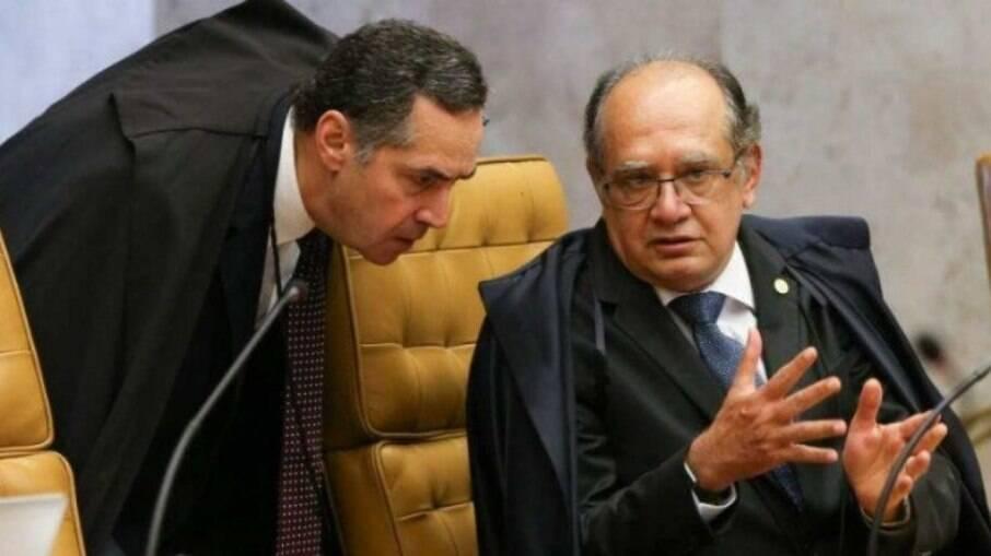 Gilmar Mendes e Barroso, ministros do Supremo Tribunal Federal