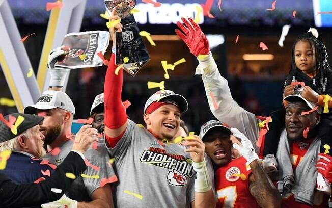 Patrick Mahomes conduziu o Kansas City Chiefs ao título do Super Bowl LIV