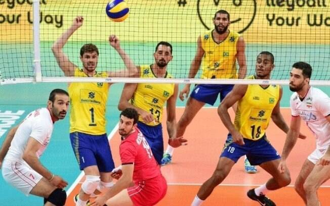 Brasil derrotou o Irã por 3 sets a 0