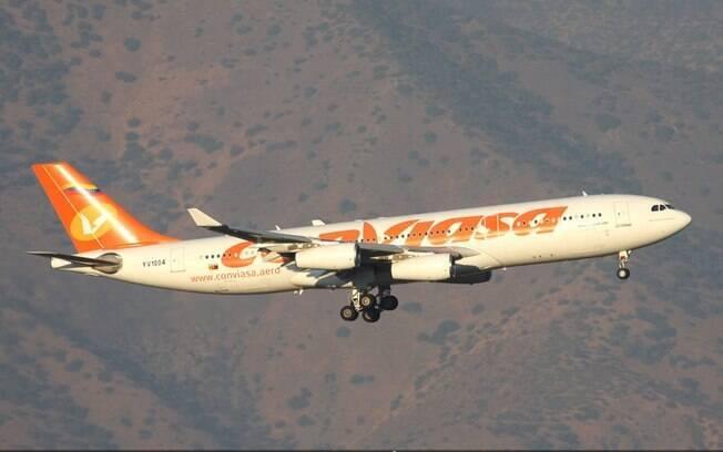 Venezuelana Conviasa incorpora mais um jato Airbus A340