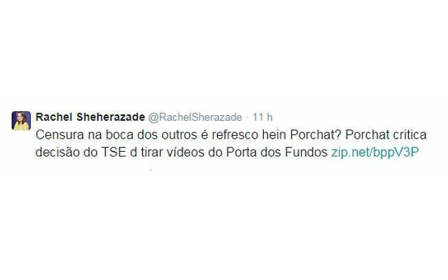 Rachel Sheherazade ironiza Fábio Porchat