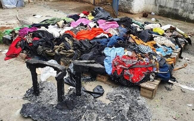 Incêndio atingiu produtos que seriam doados a famílias em kits de Natal.
