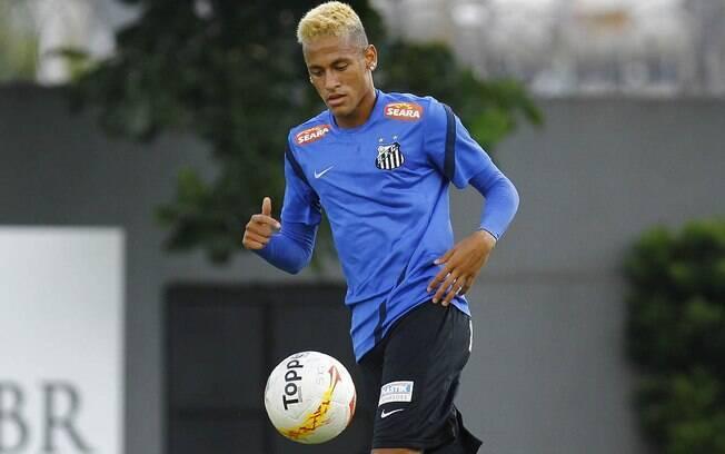 Neymar desfalcou o Santos no último  compromisso e está