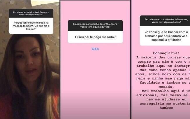 Suzanna Freitas, filha de Latino, revela que pai na paga mesada