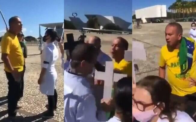 Agressão aconteceu durante ato de enfermeiros na última sexta-feira em Brasília.