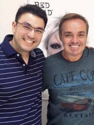 Robson Jassa e Gugu, mais um cliente famoso do salão