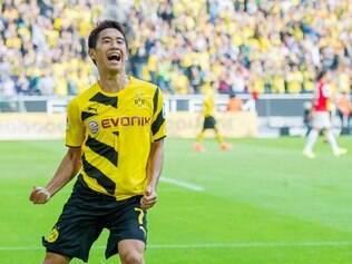 Kagawa marcou um gol e deu uma assistência na vitória do Borussia