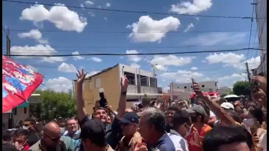 Bolsonaro em visita ao Nordeste