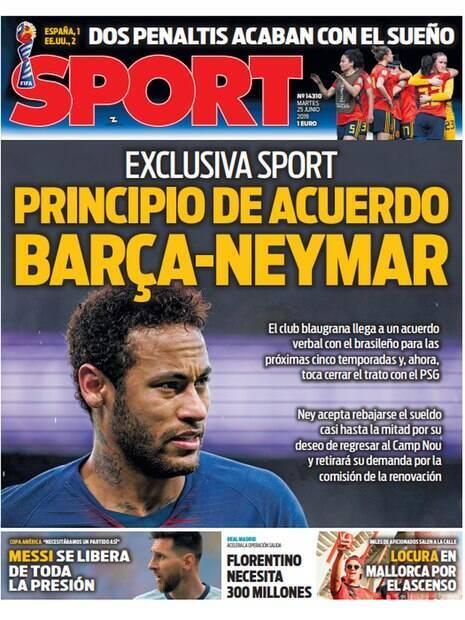 Sport noticia acordo entre Neymar e Barcelona