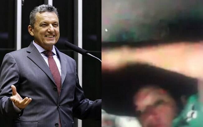 O deputado Charles Fernandes foi flagrado em cochilo durante sessão da Câmara