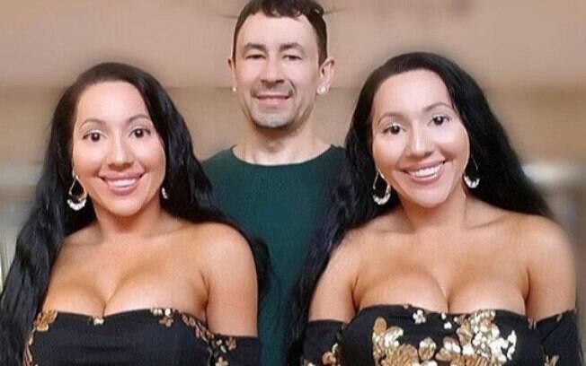 Mais um registro das gêmeas idênticas com o namorado