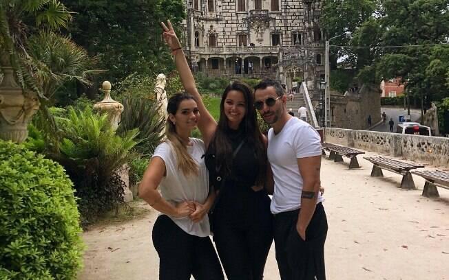 Kelly Key, Suzanne e Mico Freitas passam dia dos pais juntos, em Portugal