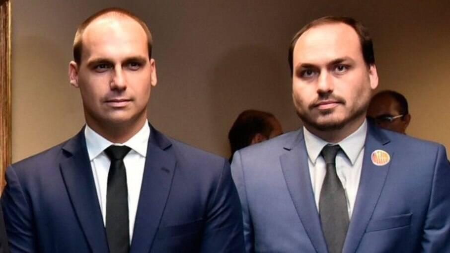 CPI da Covid estuda pedir indiciamento de Eduardo e Carlos Bolsonaro