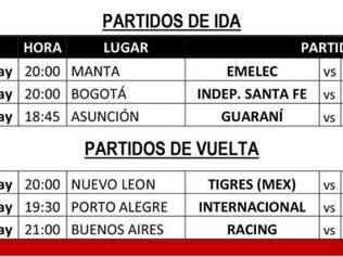 Desse modo, a entidade liberou as datas e horários de apenas três confrontos: Internacional x Santa Fe-COL, Emelec-EQU x Tigres-MEX e Guaraní-PAR x Racing-ARG