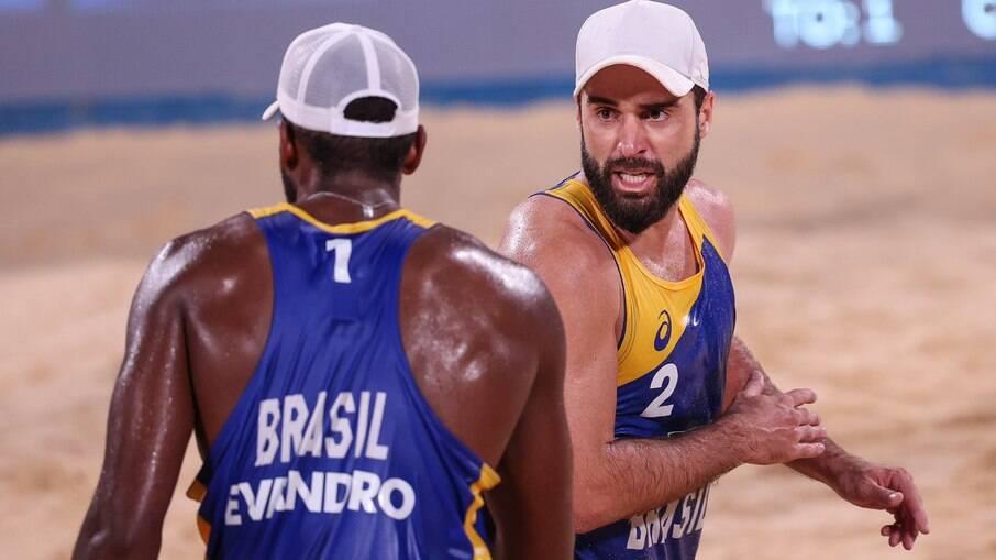 Evandro e Bruno Schmidt estão eliminados das Olimpíadas de Tóquio