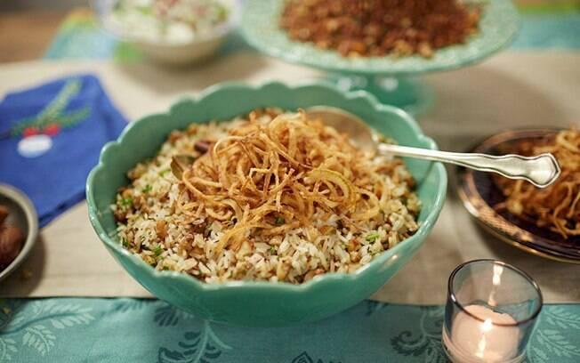 Para o ano novo, que tal um arroz diferente com figo?