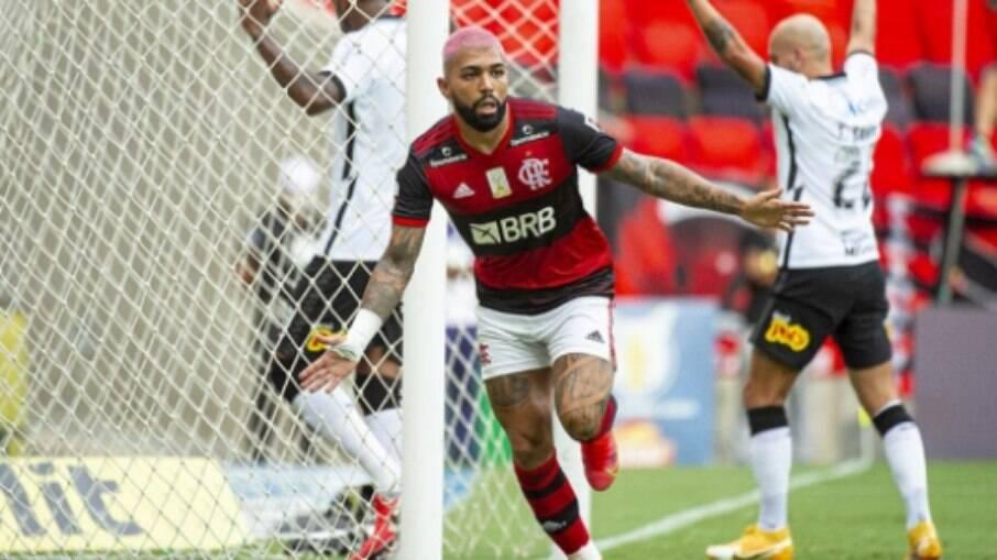 Gabigol marcou gol da vitória do Flamengo em cima do Corinthians