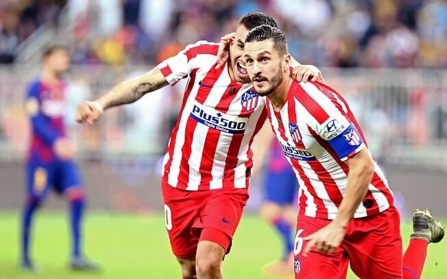 Atlético de Madrid fará a final da Supercopa da Espanha contra o Real Madrid