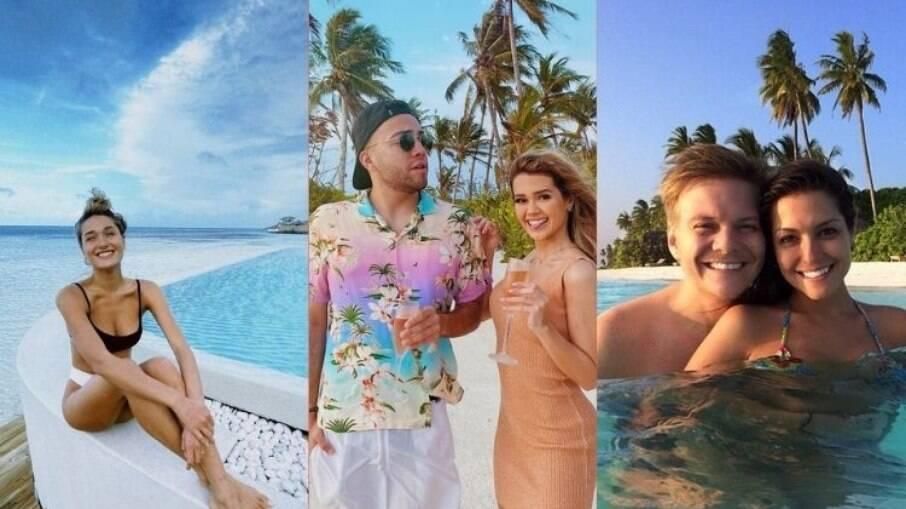 Sasha, Lucas Rangel e Michel Teló aproveitaram as ilhas paradisíacas