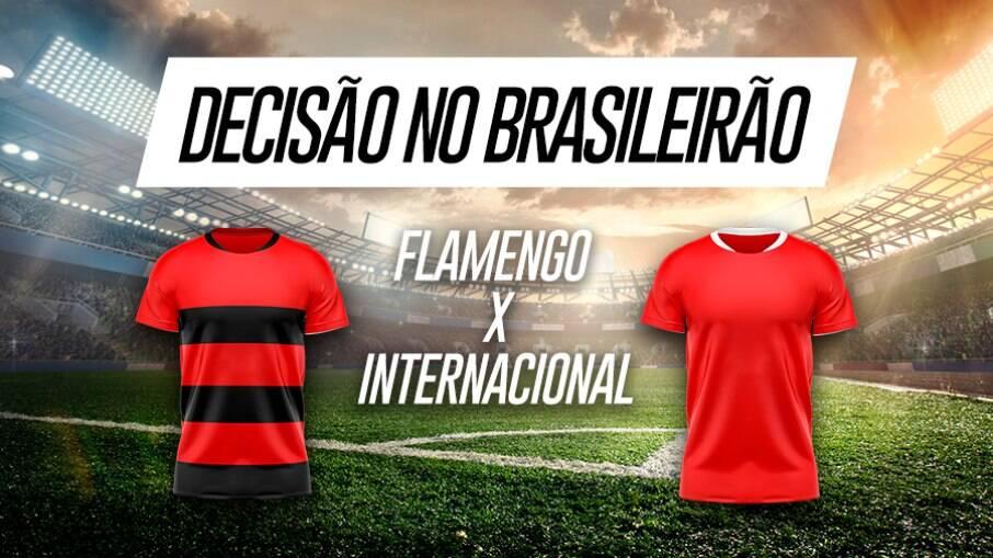 Flamengo e Internacional fazem jogo decisivo do Brasileirão neste domingo (21)