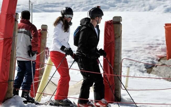 Príncipe William e Kate Middleton ganharam de presente uma viagem de esqui