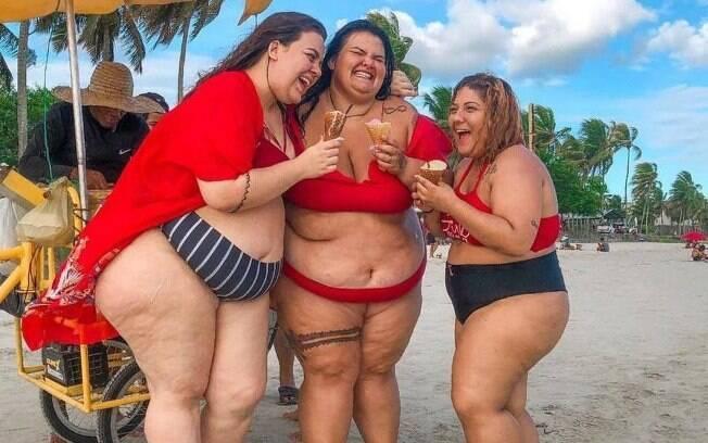 Em post no Instagram, Thais Carla fala sobre ser a única gorda entre as amigas na adolescência; hoje, não é mais assim