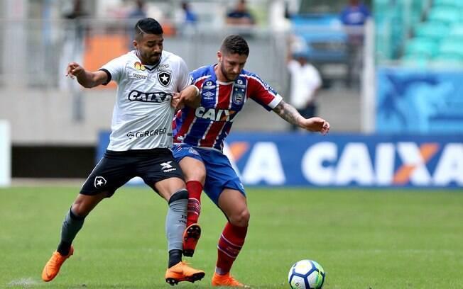 Bahia e Botafogo fizeram jogo de seis gols na Fonte Nova