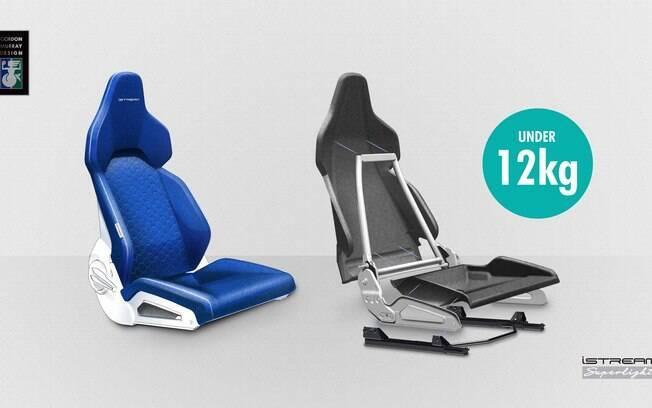 Não adianta deixar os carros mais leves, mas optar por assentos convencionais. Logo, estes acompanham a plataforma
