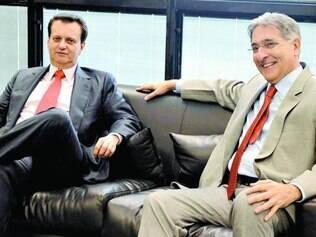 Alinhados.  Ministro Gilberto Kassab e Fernando Pimentel trabalham para reeditar a parceria nacional