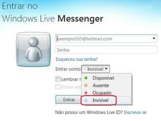MSN tem recurso para ficar invisível automaticamente