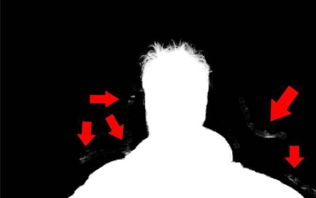 Algumas manchas brancas fora de lugar serão detectadas na imagem.