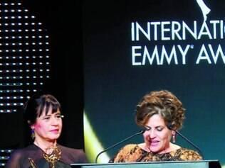 As autoras da novela agradeceram pela honraria da TV mundial