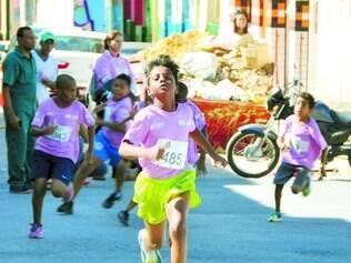 Incentivo. Crianças de 8 a 15 anos também têm espaço no circuito, participando da prova de 1 km
